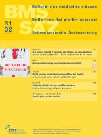 Bulletin des médecins suisses 31