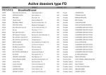 Active dossiers type FD
