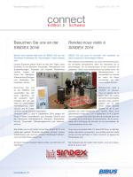 Besuchen Sie uns an der SINDEX 2014! Rendez