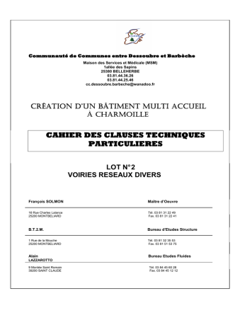 2 VRD - Communauté de Communes Entre Dessoubre et Barbèche