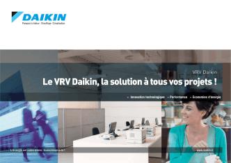 Daikin VRV solutions tertiaires