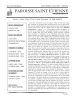 Bulletin paroissial - Paroisse Saint Etienne du Marin