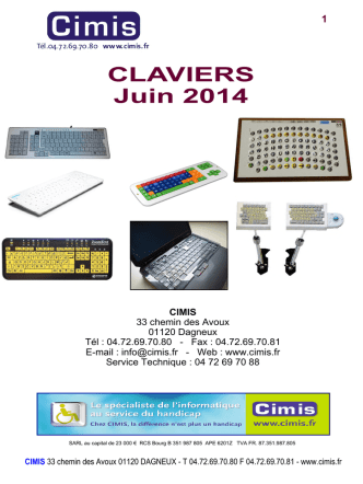 Catalogue claviers