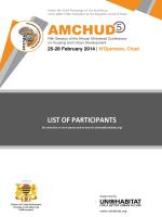 List of Participants - English - UN