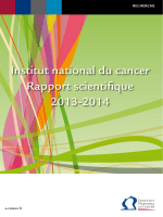 Institut national du cancer Rapport scientifique 2013-2014