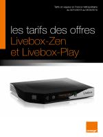 les tarifs des offres Livebox-Zen et Livebox-Play