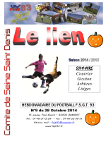 Bulletin Football n°9 octobre 2014