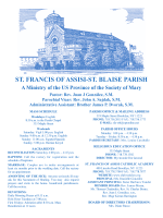 ST. FRANCIS OF ASSISI-ST. BLAISE PARISH