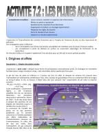 Document 1 : Origine des pluies acides
