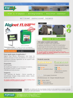 Fiche technique Alginet Flash PAE
