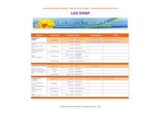 Annuaire Reseau SITE Juin 2014 - Soins palliatifs en Franche