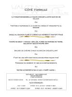 menu du jour du 21 au 24 avril 2015