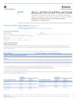 BULLETIN D`AFFILIATION