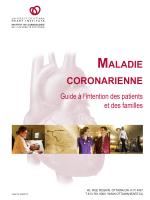 MALADIE CORONARIENNE - University of Ottawa Heart Institute