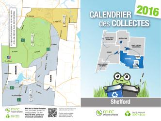 Calendrier de la collecte des ordures et recyclage 2016