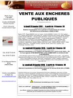 VENTE AUX ENCHERES PUBLIQUES - SCP Marie