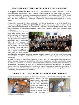 Bulletin annuel 2015 Cliquez ici pour la 2ème partie