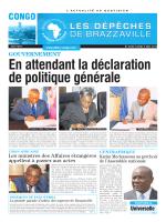 GOUVERNEMENT Universelle - Les Dépêches de Brazzaville