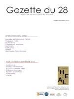 Gazette octobre - novembre 2014 - Iheal