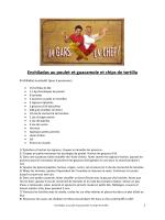 Enchiladas au poulet et guacamole et chips de tortilla