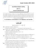DS n°7 - MPSI
