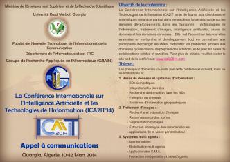 Appel à communications - Université Kasdi Merbah Ouargla