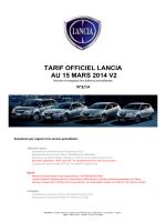 Tarifs Lancia Confidentiels 15 03 2014 v2