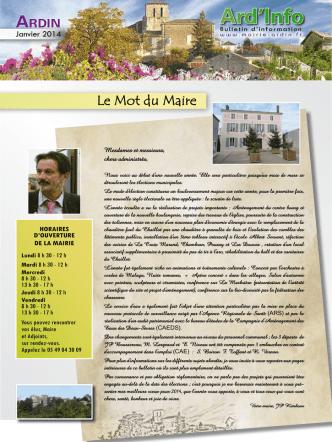 Bulletin de janvier 2014