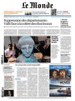 LE MONDE DU 13 ET 14.04.2014