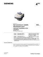 Servomoteurs rotatifs électriques pour vannes à secteur et