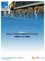 Master 2 Finance Ingénierie Financière - IAE de Poitiers