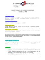 COMPTE RENDU DU COMITE DIRECTEUR Du 6 février 2014