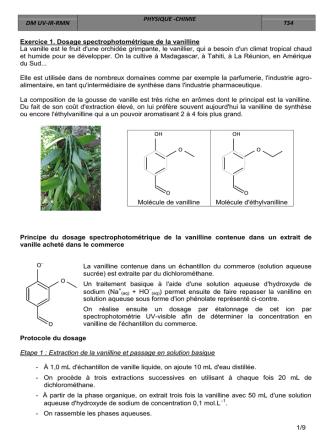 1/9 Exercice 1. Dosage spectrophotométrique de la - Meck