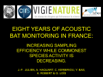 eight years of acoustic bat monitoring in france