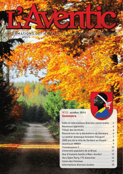 Edition 22 - octobre 2014 [PDF, 9.00 MB]