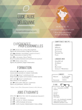 CV - Lucie Alice Delozanne