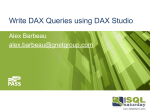 Write DAX Queries using DAX Studio