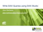 Write DAX Queries using DAX Studio