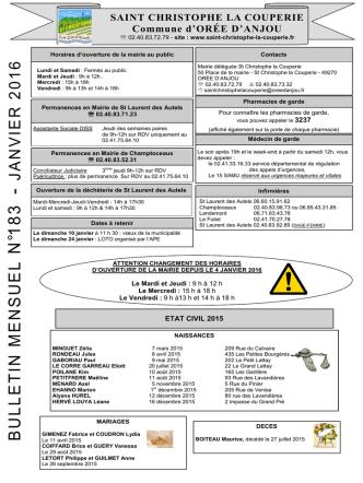 Bulletin janvier 2016 - Saint-Christophe-la