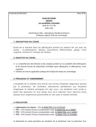 CRI 3052 L - École de criminologie