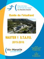 Guide de l`étudiant Master