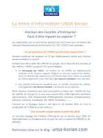 La lettre d`information UNSA Korian