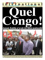 Jamais Kabila n`avait été aussi psalmodié à