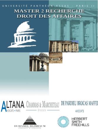 Brochure - Master 2 Droit des Affaires - Panthéon