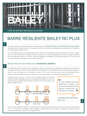 barre résiliente bailey rc plus - Bailey Metal Products Limited