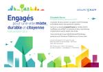 Engagés pour une ville mixte, durable et citoyenne