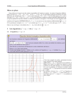 Mise en place I Les équations y′ + ay = 0 et y′ + ay = b