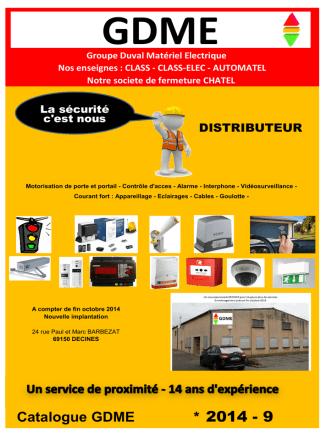 Catalogue GDME simpliflié