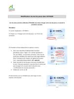Modification du mot de passe dans OCTAGRI