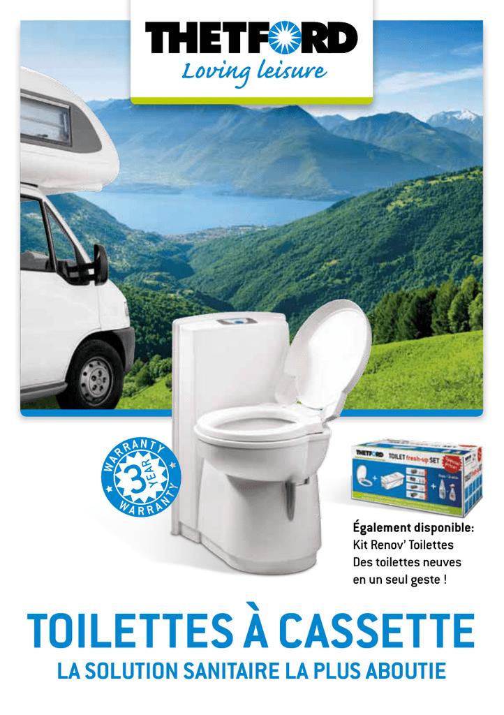 Thetford Fresh Up Set C 200/Kit Renov/'Toilet avec abattant WC r/éservoir /à roulettes et additifs sanitaires pour camping-car et caravane